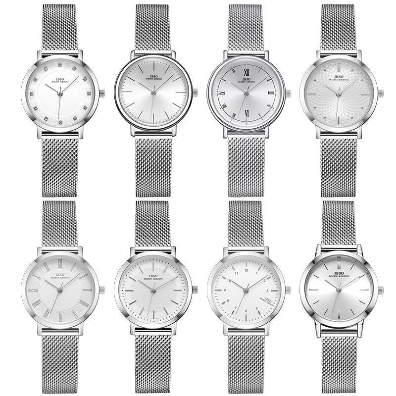 Женские часы модные Geneva дизайнерские японские кварцевые Серебристые белые женские наручные часы из нержавеющей стали 2021 подарок Relogio Feminino|Женские часы| | АлиЭкспресс