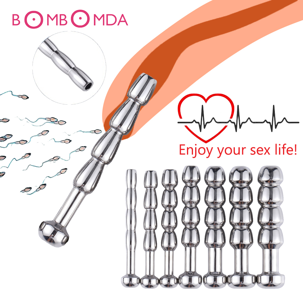 SM Male Penis Plug Urethra Catheter Metal Urethral Stretcher Urethral Sound Dilator Penis Plug Erotic Toy For Men Adult Sex Shop