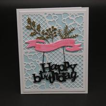 ZhuoAng happy Birthday Cutting/DIY Paper Card Craft Embossing Die Cut DIY scrapbooking cutting machine