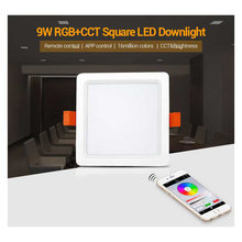 Fut064 miboxer 9 w rgb + cct square led downlight ac100 240 v, fut089 8-zone rgb + cct controle remoto(China)