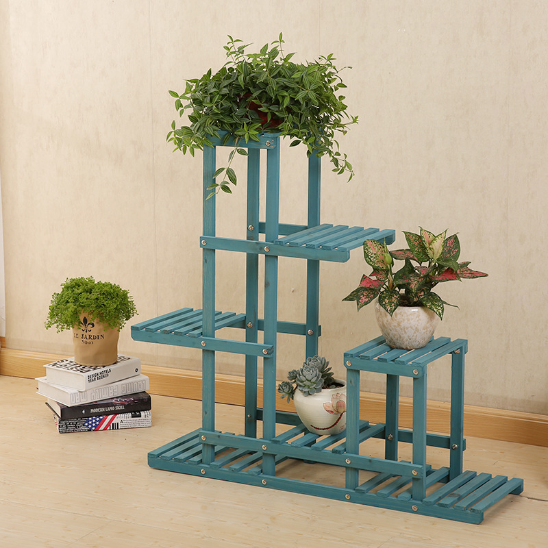 Nordic 6-layer Ladder Shelf Plant Stand Wood Indoor Home Room Office Flower Stand Bonsai Balcony Decor Garden Stand Flower Rack