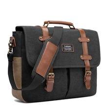 Мужские сумки через плечо Холщовая Сумка на винтажный портфель