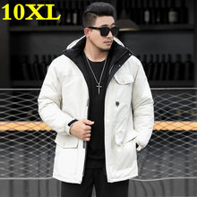 new big plus size 10XL 9XL 8XL Brand winter long Parka jacket for men thick Parka coat for men padded winter jacket warm clothes(China)