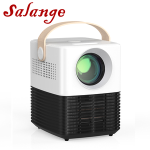 Salange Mini Projector P50,Home Theater Projector with HDMI USB WiFi Android 10.0 Optional,Tiny Noise Video Beamer LED Proyector(China)