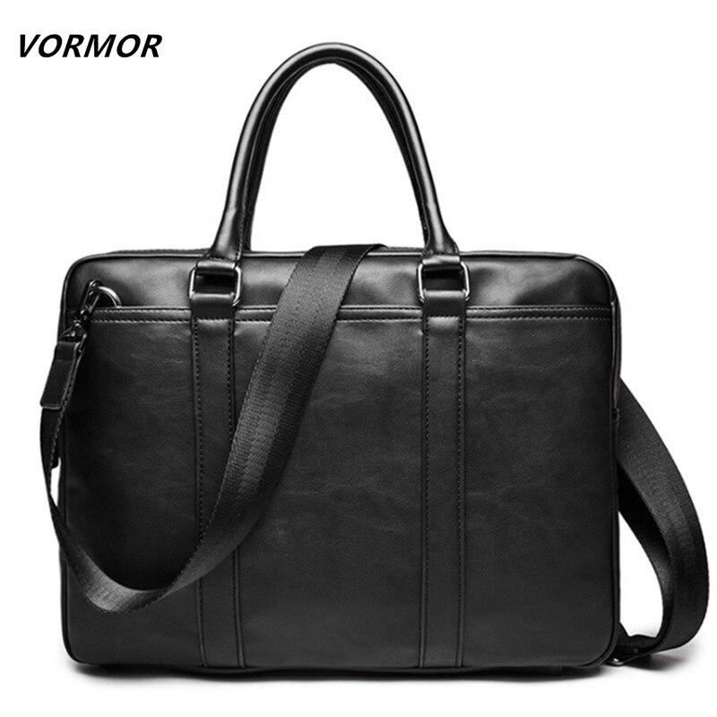 VORMOR Promotion Simple Famous Brand Business Men Briefcase Bag Luxury Leather Laptop Bag Man Shoulder Bag bolsa maleta|bag tote bag|bag luggagebag scarf - AliExpress