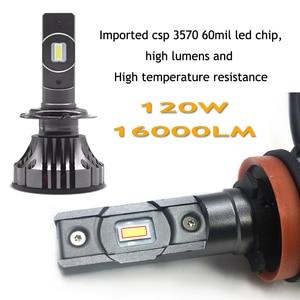 Image 4 - YOTONGLIGHT H7 لمبة Led سيارة العلوي Lampada H4 Led مصباح 120W 16000lm الصمام H1 H11 9005 Hb3 9006 Hb4 H8 H9 H10 H16 CSP 12v 6000K