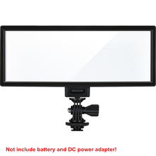 Viltrox l132t led 비디오 라이트 울트라 씬 lcd 디스플레이 카메라 dv 캠코더 용 바이 컬러 및 디 밍이 가능한 dslr 스튜디오 라이트 램프 패널