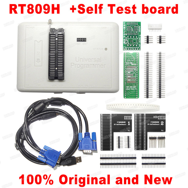 2020 Newest RT809H EMMC Nand FLASH  Programmer +TSOP48 TSOP56 Adapter +SOP8 BGA48 BGA63 BGA64 BGA169 AdapterTest Clip