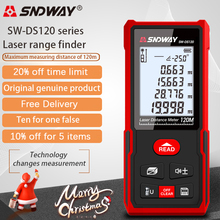 SNDWAY laser rangefinder distance meter 120m 100M 70M electronic roulette digital ruler trena laser tape measure range finder