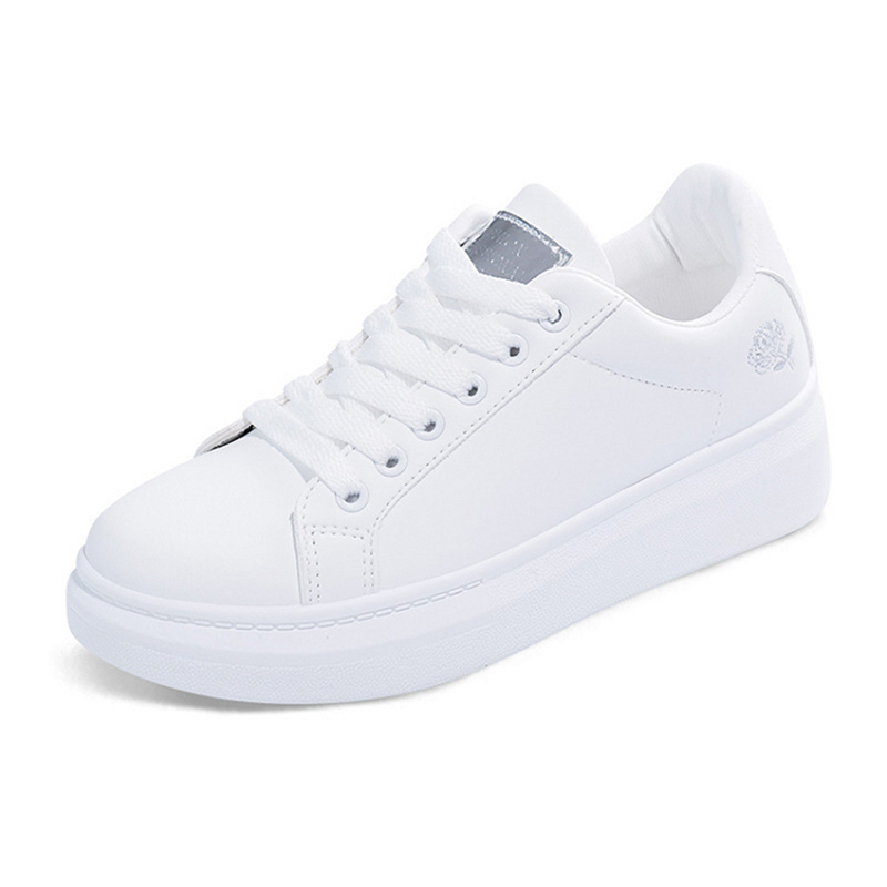 Women Casual Shoes New Women Sneakers Fashion Breathable PU Leather Platform White Women Shoes Soft Footwears Nvxie141