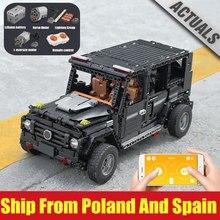 Yeshin 13070 teknik araba uyumlu 20100 MOC 2425 G500 AWD vagon Set yapı taşları tuğla çocuk RC Motor oyuncak arabalar