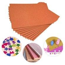 Craft-Paper Paper-Flash A4 Flash-Card Orange Advanced No-Adhesive Shiny