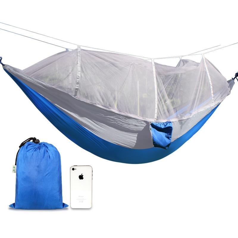 Outdoor Hammock Parachute Cloth Anti-mosquito Hamak Portable Wild Camping Single Double Hammock Camping Swing Tent