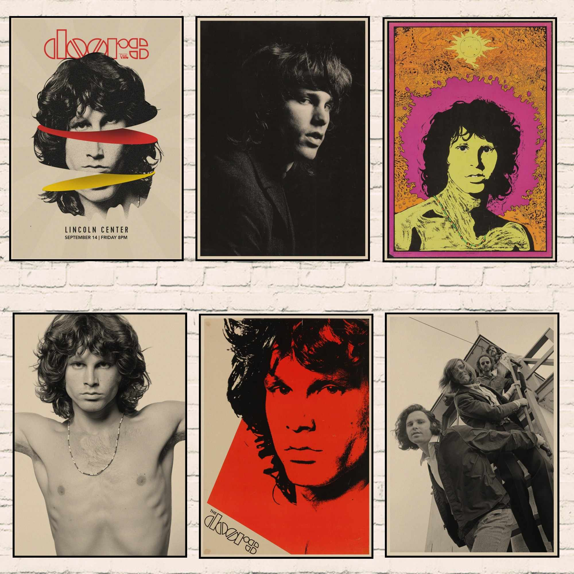 vintage poster home decor the doors jim morrison kraft rock poster retro poster rock band music star poster wall pictures 1002