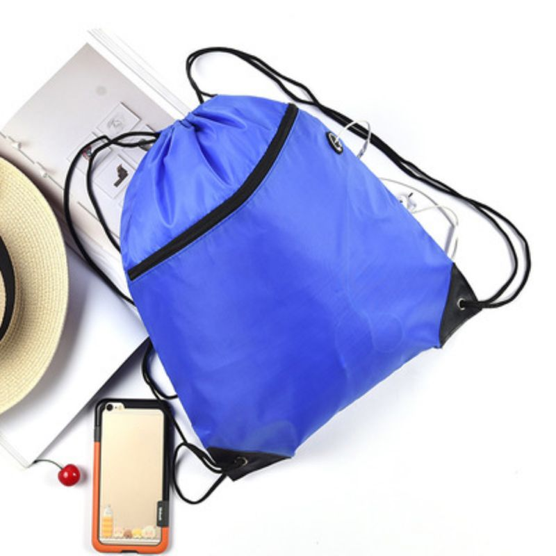 Drawstring Bag Solid Color Storage Pack  Fashion Portable Waterproof Backpack For Sport Travel Yoga Running Large Capacity Bags