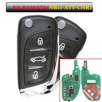 Frete grátis (1 peça) keydiy kd900 remoto nb11 3 botão chave remota com nb att chrysler modelo para chrysler  jeep  dodge key key key remote key for -