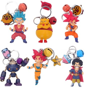 Japanese Anime DBZ Q Version Son Kakarot Keychain DragonBall Key Bag Ornaments Decoration PVC Action Figure Toys Birthday Gifts image