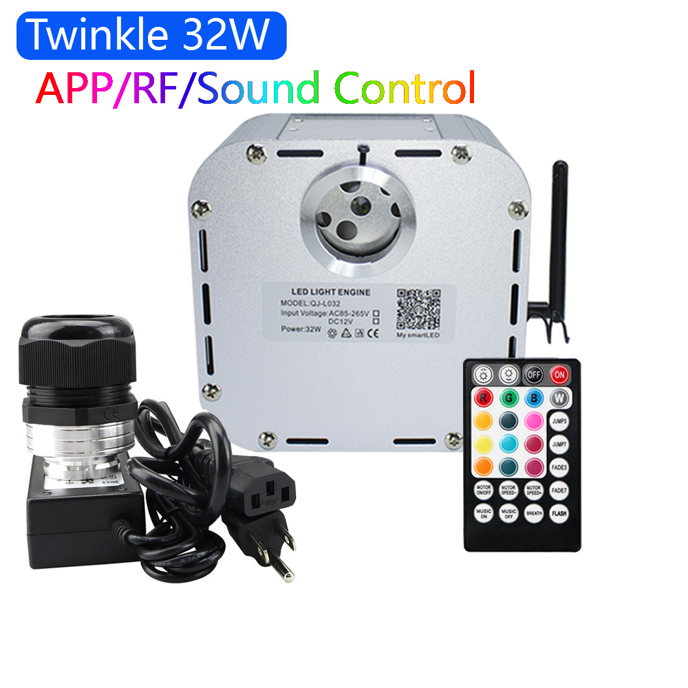 New 32W Twinkle RGB 4 Level-speed Smart APP Control LED Fiber Optic Light Engine For Starry Sky Effect Ceiling