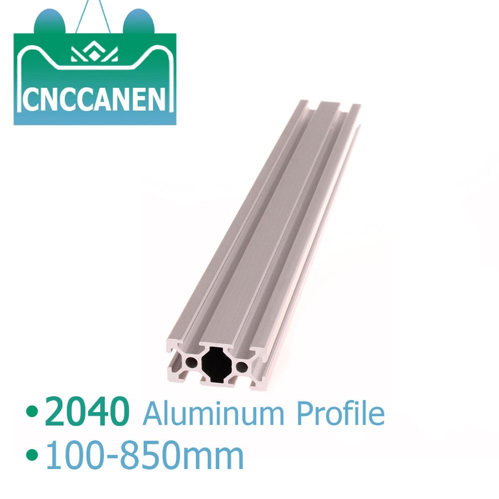 DIY CNC 3D Printer Parts <font><b>2040</b></font> Aluminum Profile 100mm to 850mm <font><b>Extrusion</b></font> European Standard Anodized Linear Rail <font><b>2040</b></font> CNC Part image