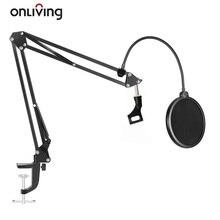 ONLIVING NB 35 Micro Treo Bùng Nổ Giá Tay Kéo/Mic Kẹp/Gắn Kẹp & Lọc Lá Chắn chân Kẹp Bộ