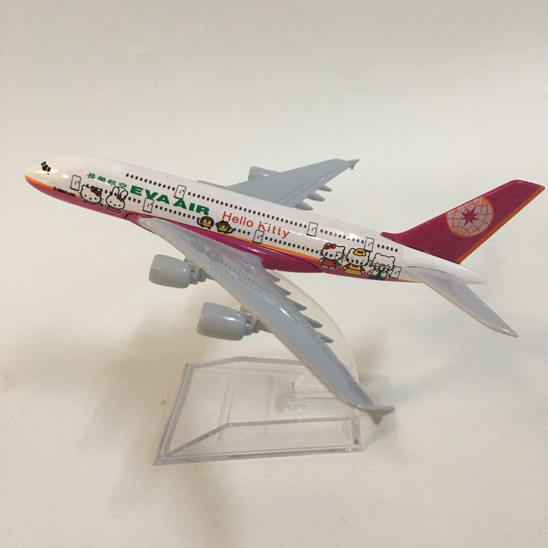 16cm EVA Air A380 Plane Model Airplane Model Planes Aircraft Model Toy 1:400 Diecast Metal Airbus A380 Airplanes Toy