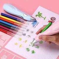 מקצועי חשמלי תרסיס מברשת אמנות סמנים בצבעי מים סמני עבור ציור סט יד מצויר ילדים ציור מתנות אספקת אמנות