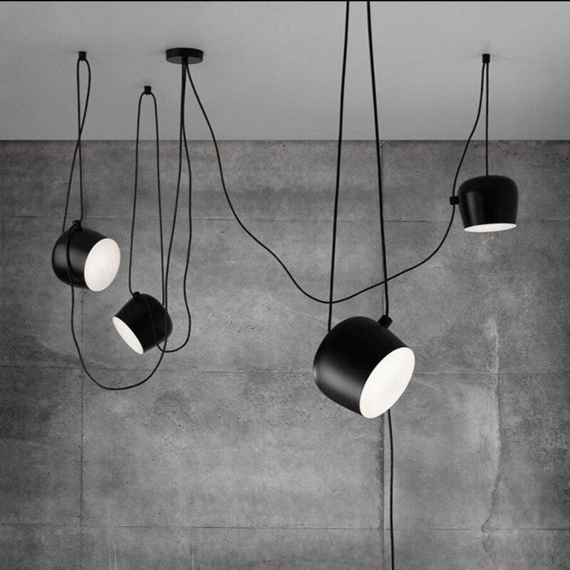 Loft Pendant Lamp Modern Nordic Dining Room Living Room Restaurant Cafe Club Bedroom Bar Hall Pendant Light Bed Luminaire