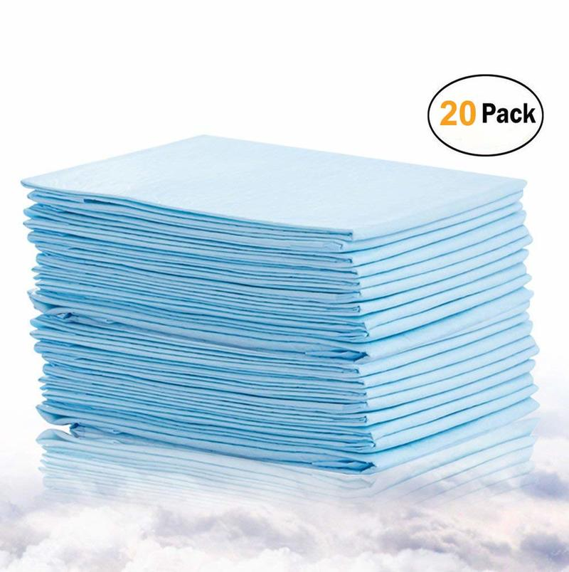 20pcs Baby Disposable Changing Pads  Incontinence Bed Pad Pet Training Pads Soft Waterproof Disposable Mat