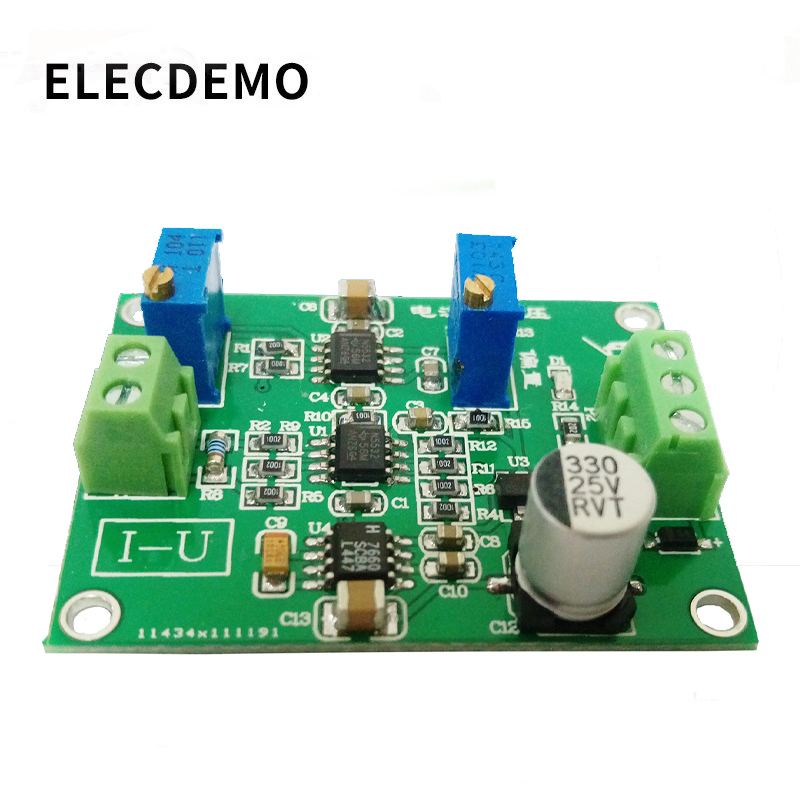 Current to voltage module signal conversion conditioning IU conversion 0/4-20mA to 0-5V transmitter