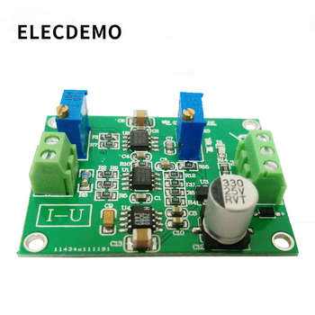 Current to voltage module signal conversion conditioning IU conversion 0/4-20mA to 0-5V transmitter high precision usb analog signal output module 0 10v 5 5v 4 20ma and other ranges