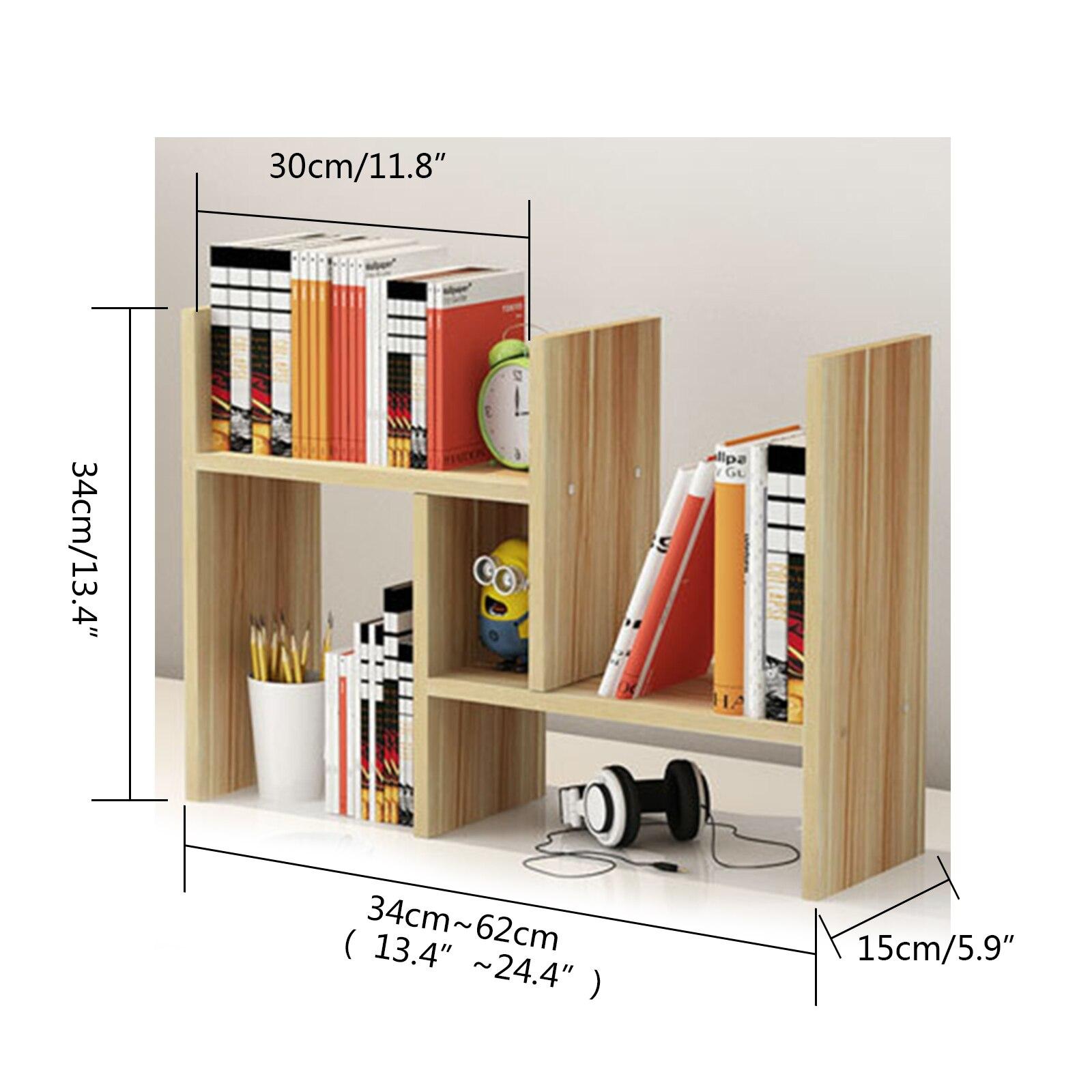 Schreibtisch Lagerung Organizer Einstellbare Desktop Display Regal Rack Mehrzweck Bücherregal für Büro Küche - 4