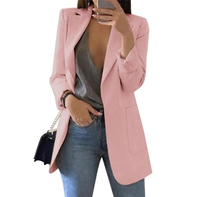 Suit Women Blazers And Jackets Elegant Solid Gray Black Blazer Female Coats Autumn Vintage Long Sleeve Ladies Suits Clothes