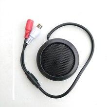 Micro de ramassage CCTV Mini Audio pour caméra sécurité RCA sortie Audio couleur noire sensibilité de haute qualité forme ronde