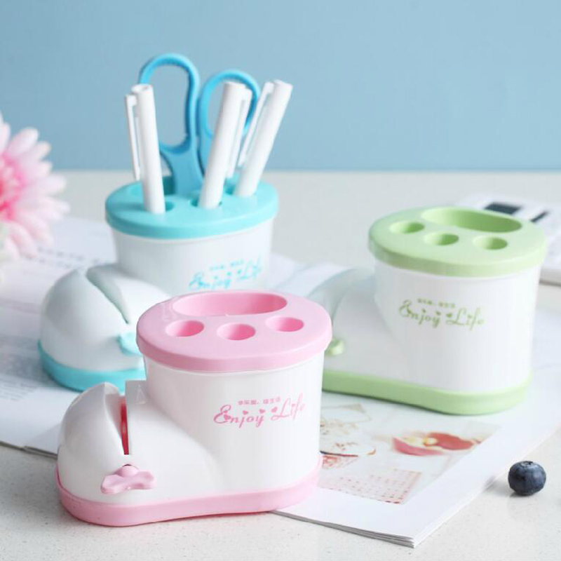 Cute creative storage Boots Bathroom toothbrush holder shoe type toothbrush holder with toothpaste squeezer image