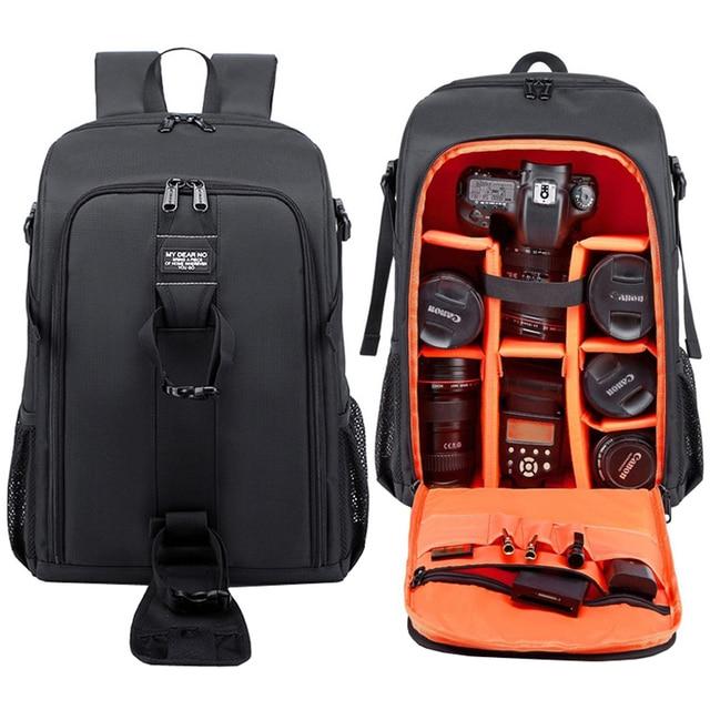 Водонепроницаемый рюкзак для фотокамеры, вместительная сумка для зеркальных камер и видеокамер, с дождевиком, для Canon, Nikon, Sony, Pentax
