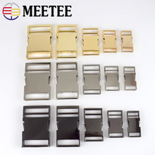 2pcs Meetee 14/19/25/32/38mm Metal Bag Strap Quick Side Release Buckle Dog Collar Webbing Belt Clip Clasp Parts Leather Craft