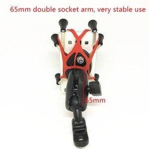 Image 5 - Jackkinsta البلاستيك دراجة نارية المقود حامل مشابك جبل مع الكرة 25 مللي متر للهواتف الذكية ل Gopro كاميرات X Grip