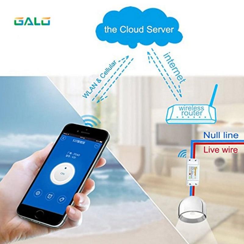 Galo Wifi Smart Switch Wifi Control Switch Wireless Relay Switch Universal DIY Smart Home Wifi Switch Domotica Device Use