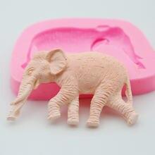 Силиконовая форма в виде симпатичного слона для помадки штукатурка