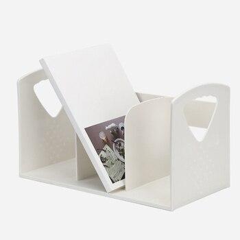 Креативная Многофункциональная офисная стойка для файлов, многослойная вертикальная подставка для книг, абс пластиковая стойка для хранен...