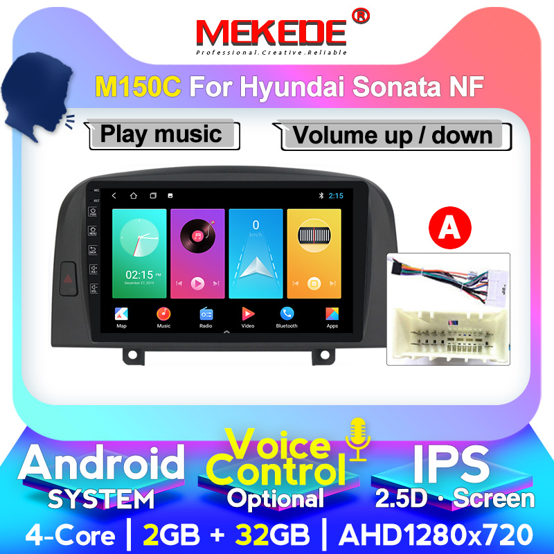 MEKEDE Android GPS Car Multimedia Player For Hyundai SONATA NF 2004 2005 2006- 2008 BT WIFI Head Unit Support 4G LTE CARPLAY