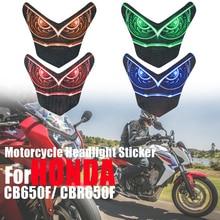 Motorcycle Headlight Decoration Sticker For HONDA CB650F CBR650F CBR 650F CB 650 F 2014 2016 Head Light Fairing Protection Decal
