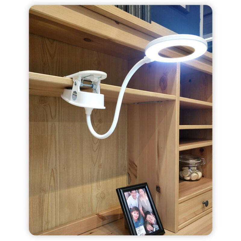 3 Modes USB Clip LED Light Desk Table Reading Book Lamp Dimmable Touch 1200mAh Study Learning Light