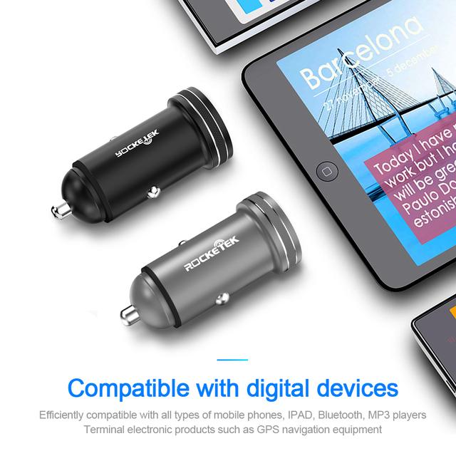 Rocketek USB Car Charger 3.1A