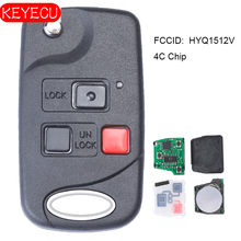 Keyecu Vervanging Flip Afstandsbediening Sleutelhanger Voor Lexus LX470 1998 1999 2000 2002 Fcc: HYQ1512V 4C
