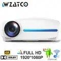 WZATCO C2 4K Full HD 1080P светодиодный проектор Android 9,0 Wifi умный домашний кинотеатр видео проектор с цифровой коррекцией трапецеидального ключа