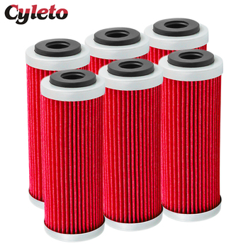 4/6pcs Cyleto Motorcycle Oil Filter for KTM SX SXF SXS EXC EXC-F EXC-R XCF XCF-W XCW SMR 250 350 400 450 505 530 2007-2016 motorcycle ignition magneto stator coil for ktm 250 xcf w exc f xc f xcf w champion edit xcf w six days 77039104000