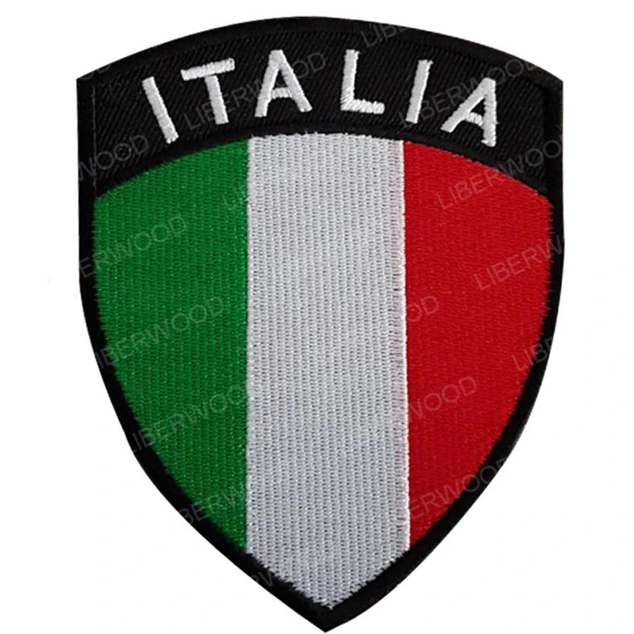 ITALIA Italy Flag Iron On Patch Italian