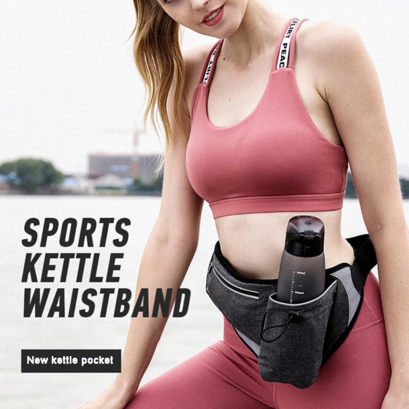 Outdoor Sports Supplies Double Layer Marathon Bottle Waist Pack Waterproof Mobile Phone Chest Bag
