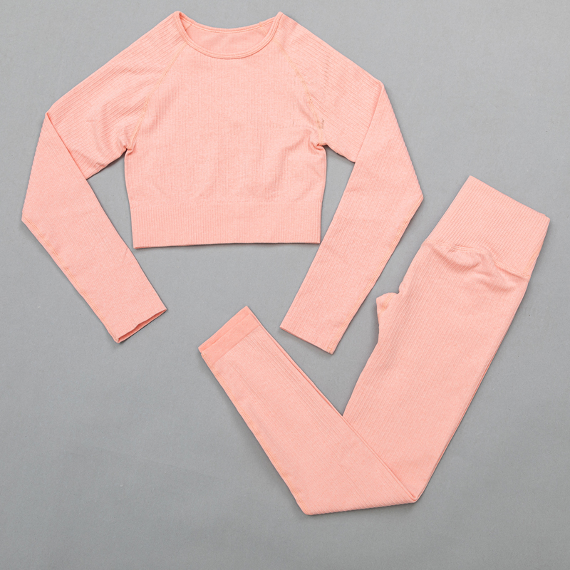 ShirtsPantsOrange - Women's sportswear Seamless Fitness Yoga Suit High Stretchy